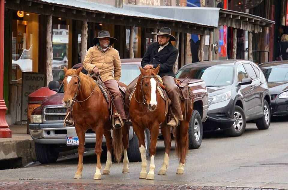 Cowboys Enjoying The Ride In Fort Worth Stockyards National Historic District