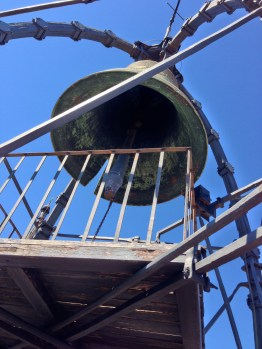 Tower bell. It rang while we were up there!