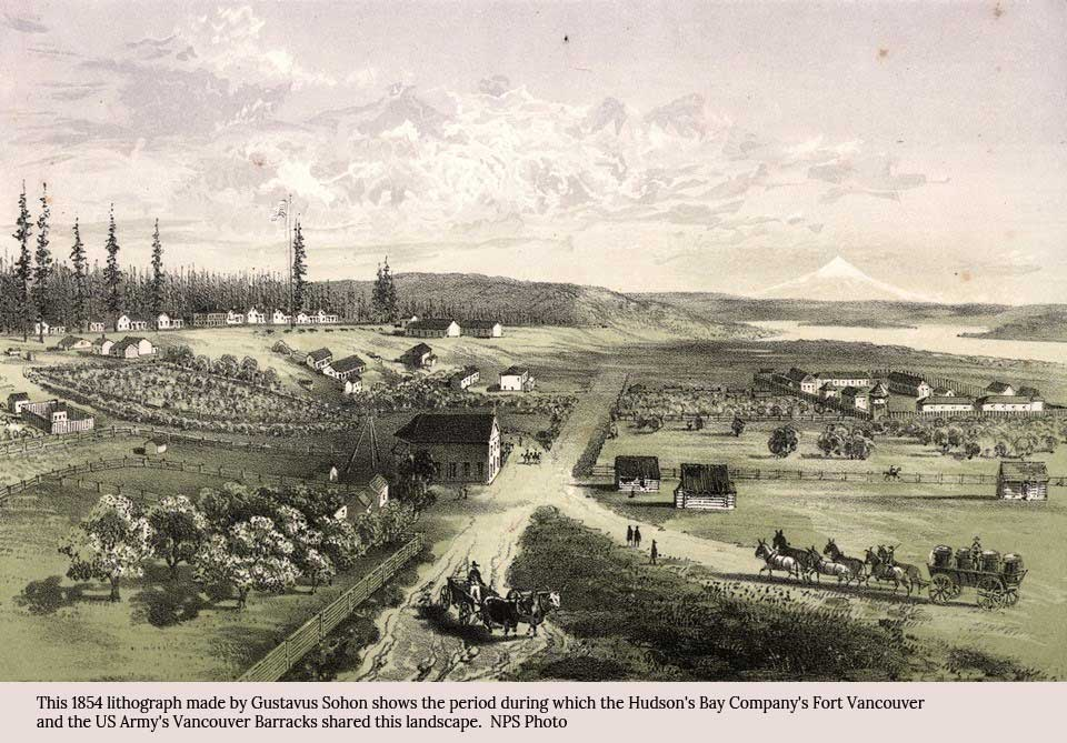 Vancouver Washington History - lithograph by NPS