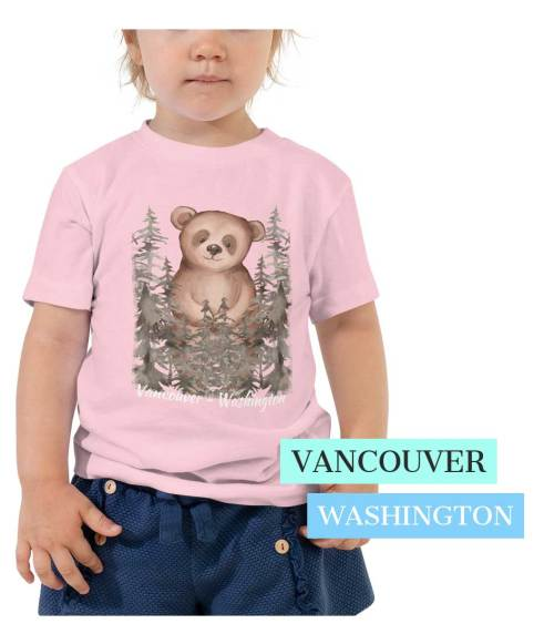 Vancouver themed T Shirt for Toddler - cute bear