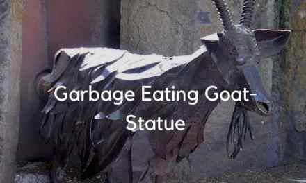 Garbage Eating Goat-Statue