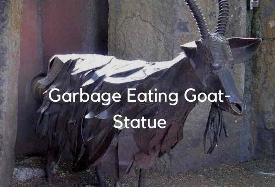 Garbage Eating Goat-Statue
