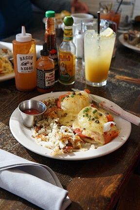 Plate of breakfast food from Bacon & Eggs in Walla Walla