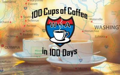 100 cups of coffee in 100 days across Washington State