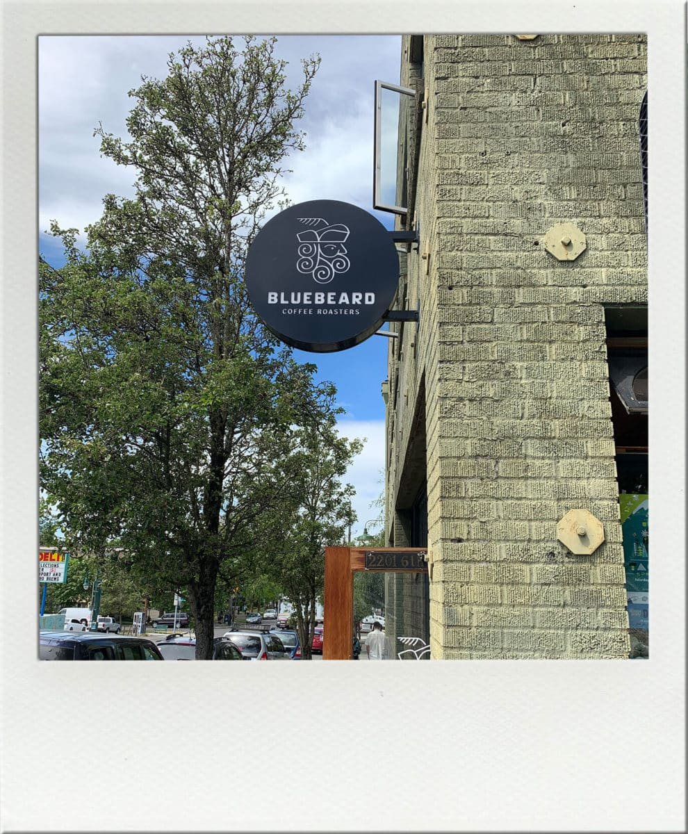 Bluebeard Coffee Roasters Sign on Building