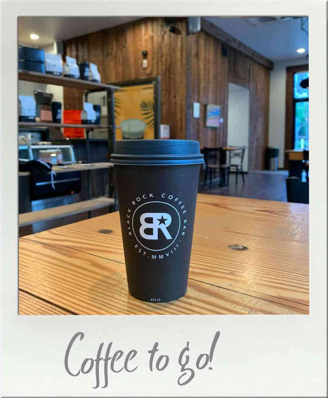 Black Rock Coffee in To Go cup