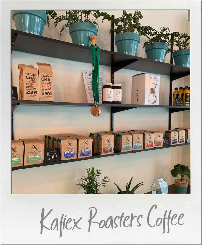 Kafiex Roasters Coffee beans on display