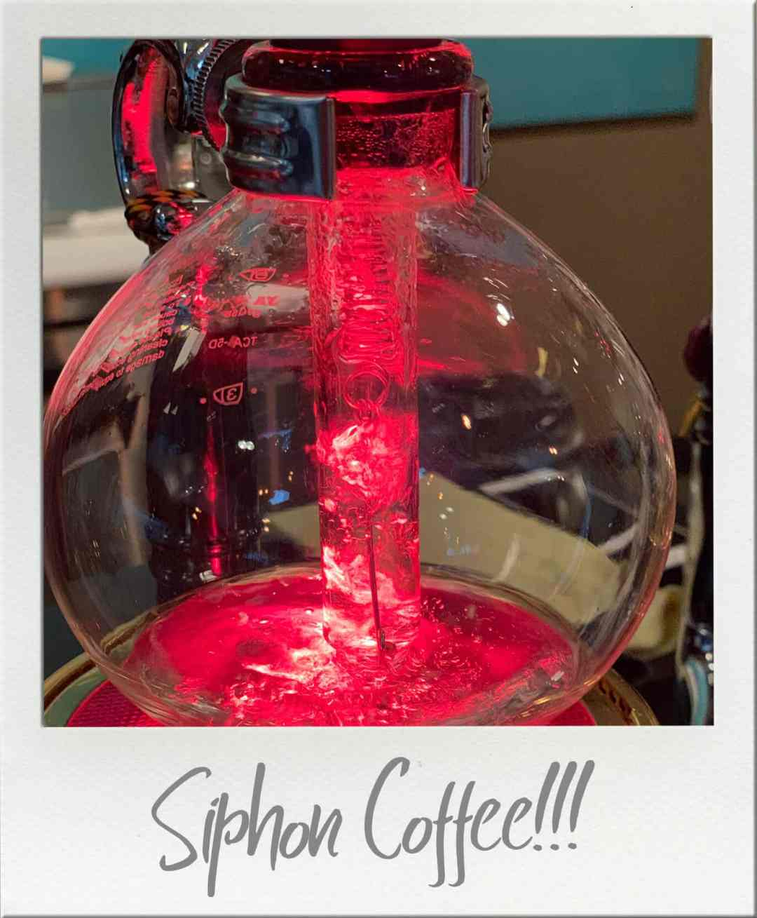 Kafiex Roasters Siphon Coffee brewing with halogen lighting