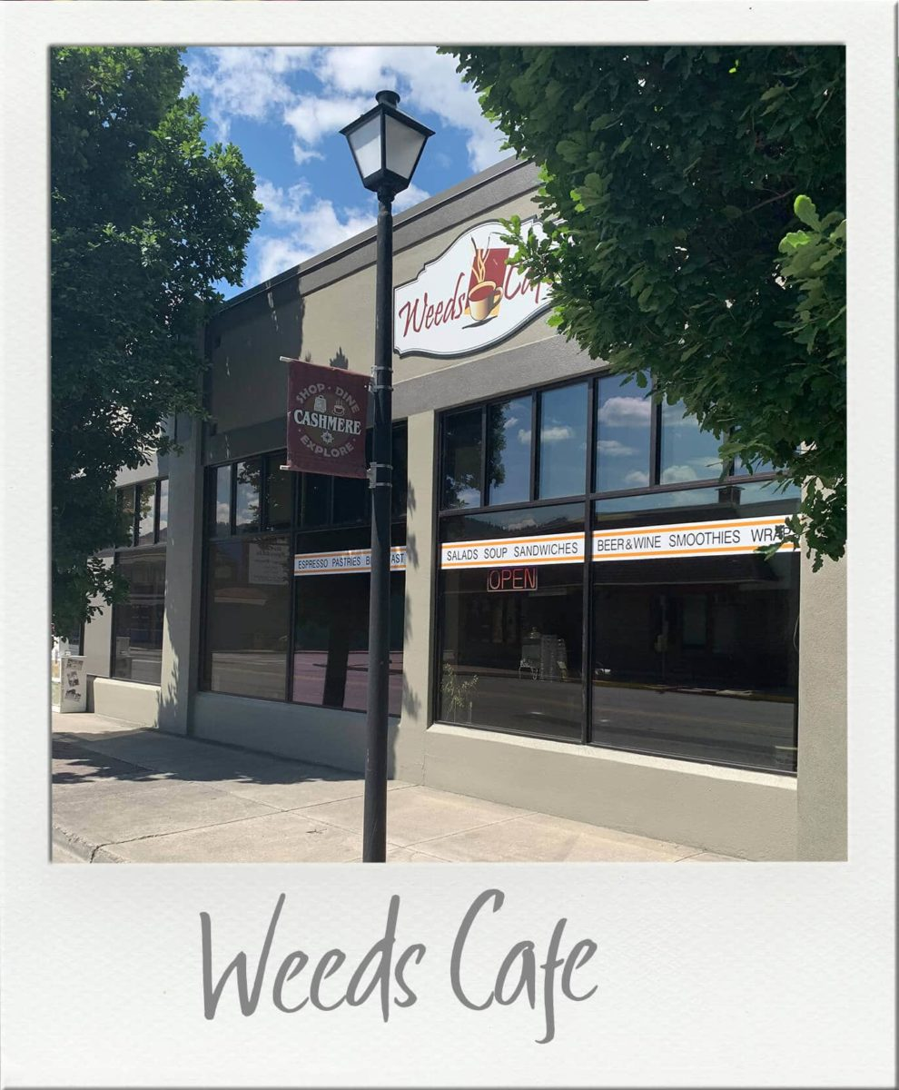 Exterior of weeds cafe in cashmere from street view