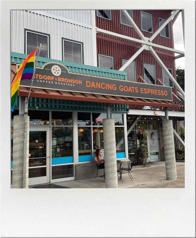 Batdorf & Bronson Dancing Goats Espress Bar Olympia Washington Exterior View