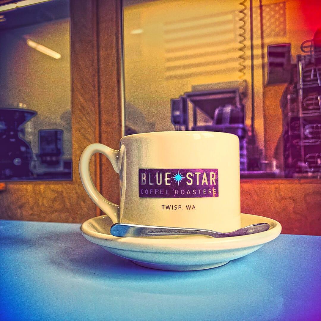 Bluebeard Coffee Roasters Sign on Building