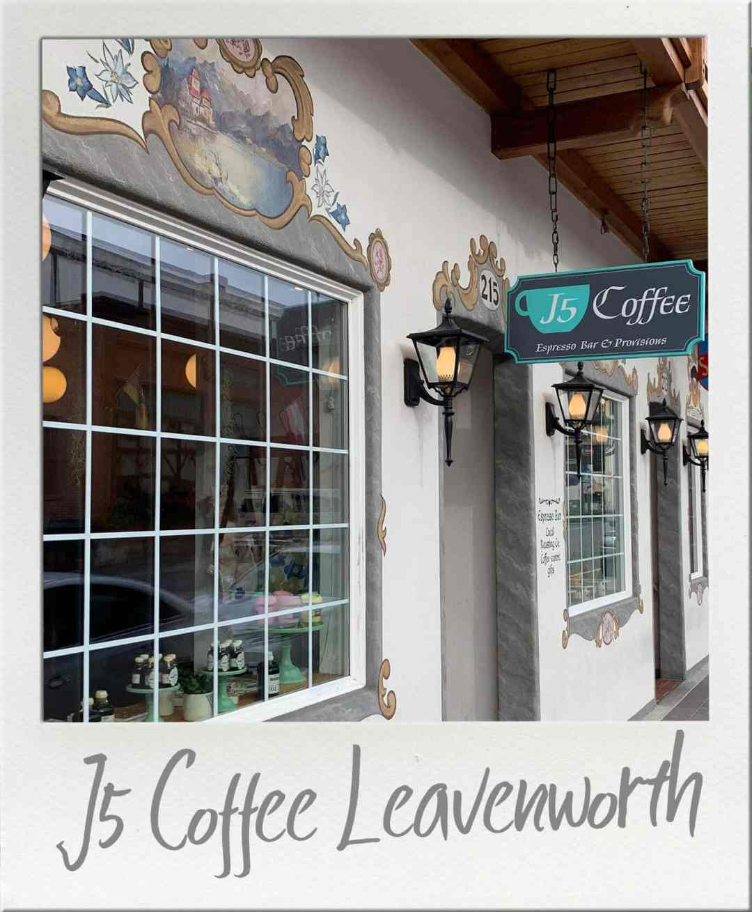 J5 Coffee in Leavenworth Washington Storefront