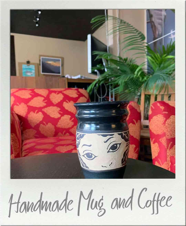 Santa Lucia Coffee Centralia  Handmade Coffee Mug and Handmade Coffee