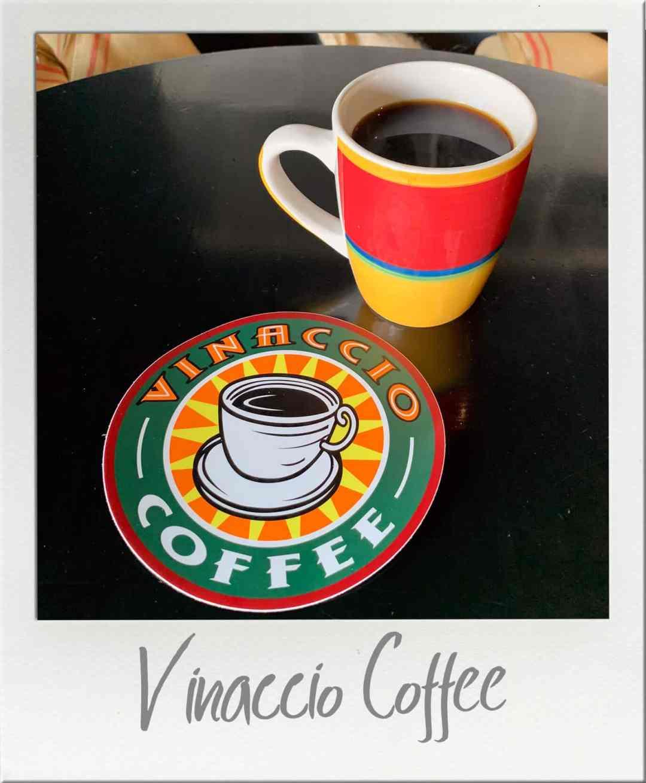 Vinaccio Coffee in a mug