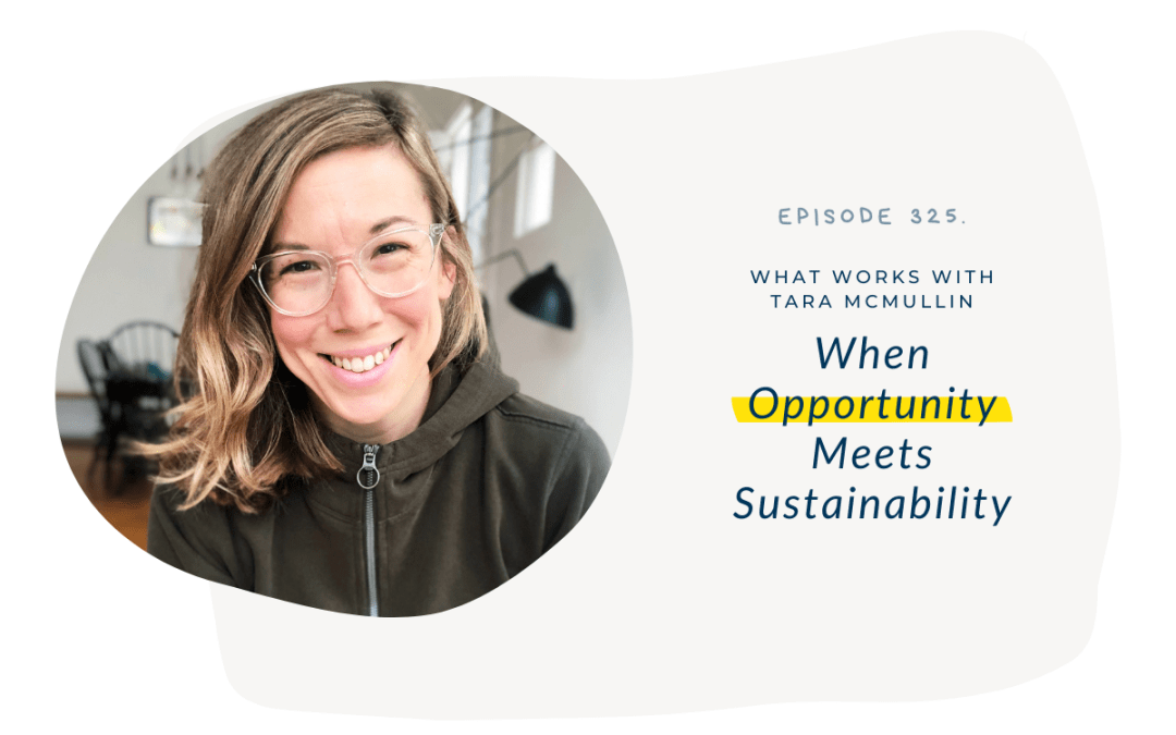 EP 325: When Opportunity Meets Sustainability With Tara McMullin
