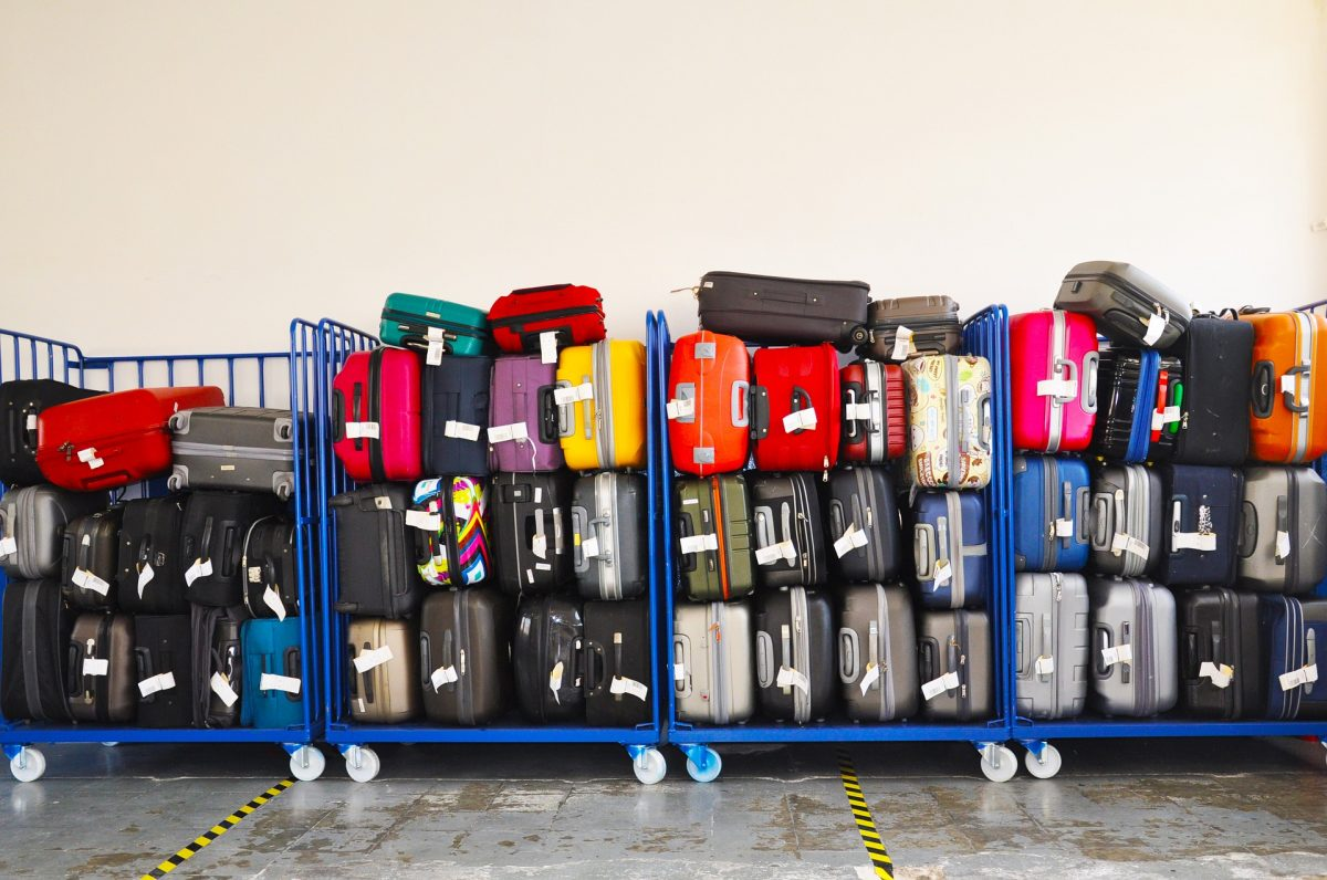Piles of luggage. After saving for a vacation, you're ready for the next adventure