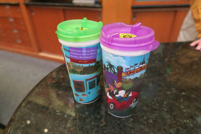 Refillable mugs at Walt Disney World