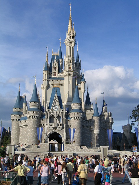 Cinderella Castle, located in Magic Kingdom at Walt Disney World.