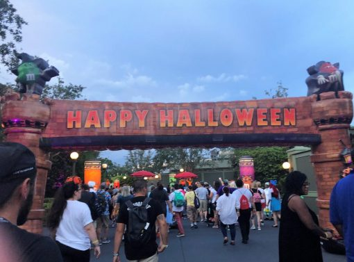Happy Halloween Entrance in the Magic Kingdom