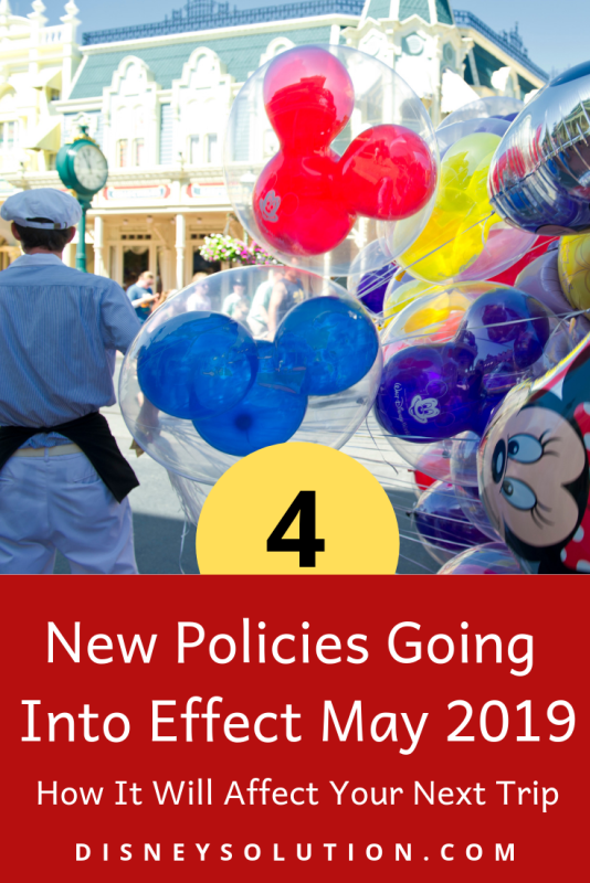 New policies going in to effect in Walt Disney World and Disneyland
