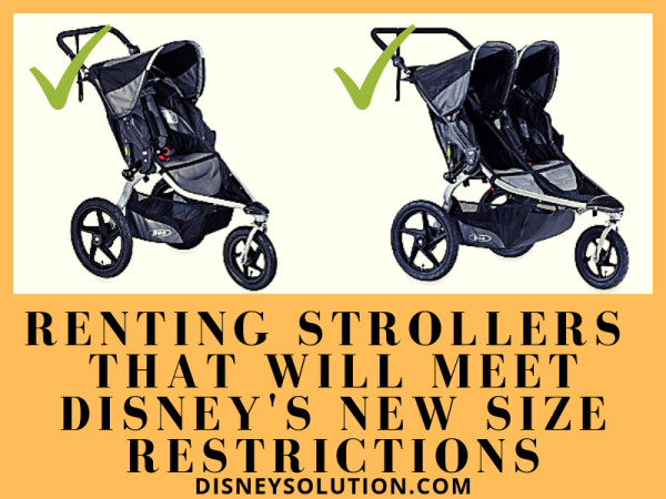 Renting Strollers That Will Meet Disney's New Size Restrictions