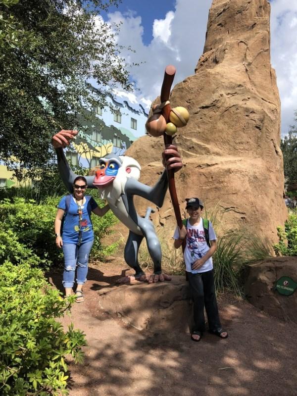 Rafiki at Disney's Art of Animation