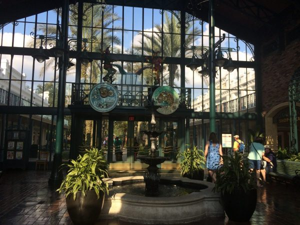 Entrance to Port Orleans - French Quarter lobby