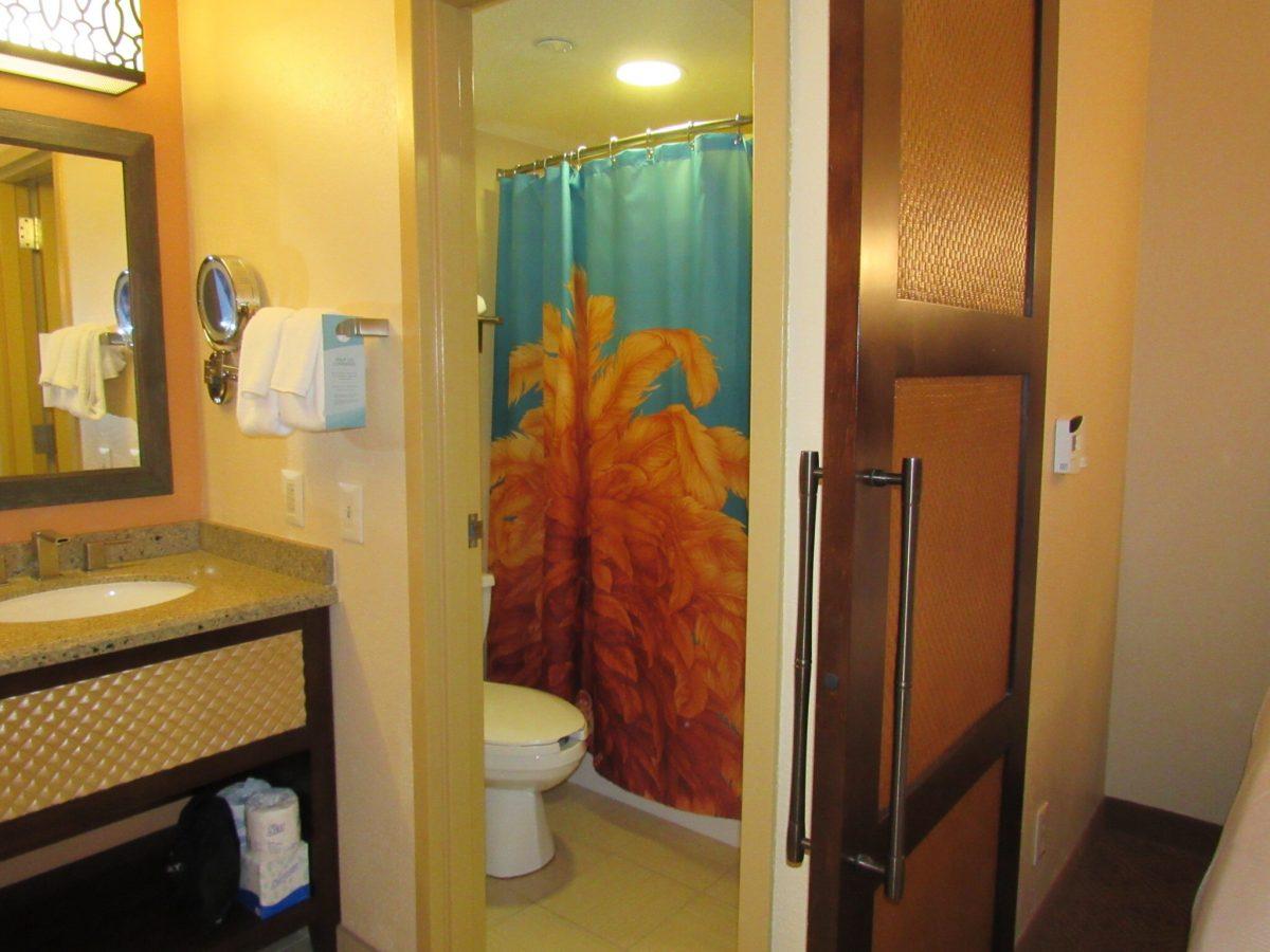 Bathroom area at Disney's Caribbean Beach
