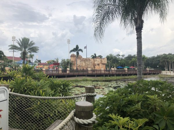 Overview of part of Disney's Caribbean Beach Resort
