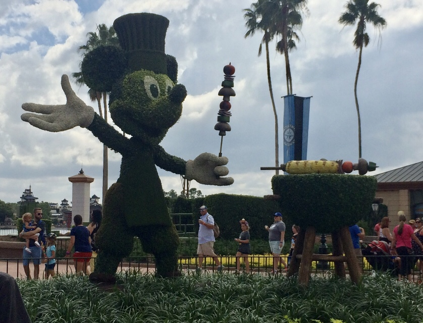 Mickey Topiary in Epcot at the Epcot International Food and Wine Festival