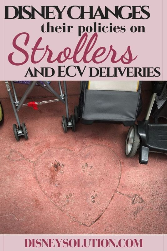 Disney changes their policies on Strollers and ECV Deliveries