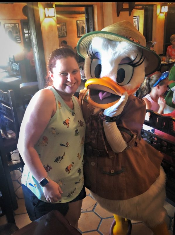 Character meet and greet with Daisy at Tusker House in Disney's Animal Kingdom