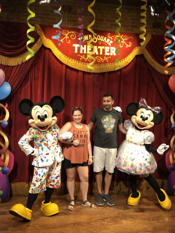 Meeting Mickey and Minnie in Town Square Theater