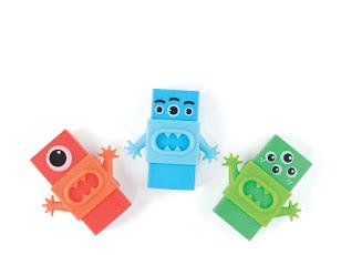 Monster Erasers, sold on  Ooly.com