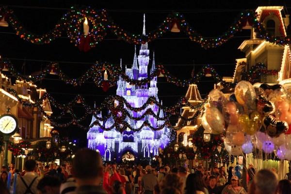 Chrsitmastime in the Magic Kingdom in Walt Disney World