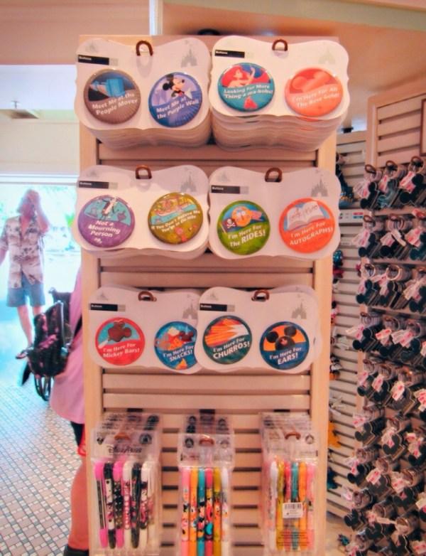Endcap showing off Disney merchandise
