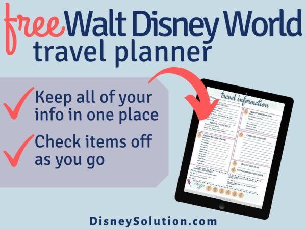 Free Walt Disney World Travel Planner