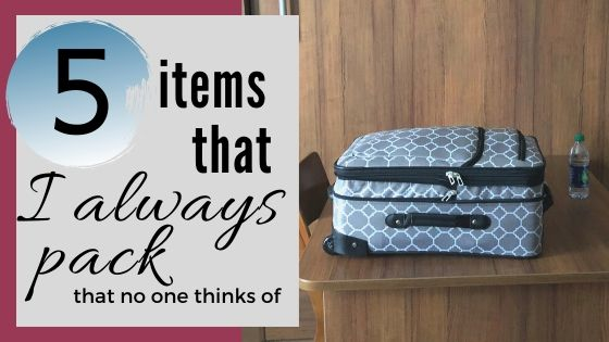 5 Items I Always Pack