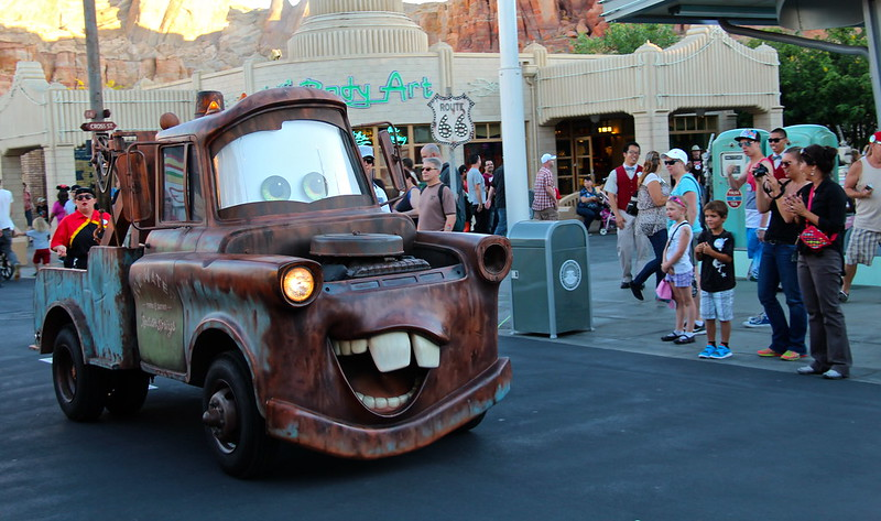 Tow Mater in Radiator Springs in Disney's California Adventure