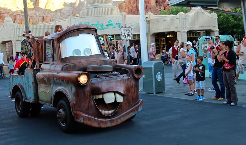 Tow Mater in Radiator Springs in Disney's California Adventure