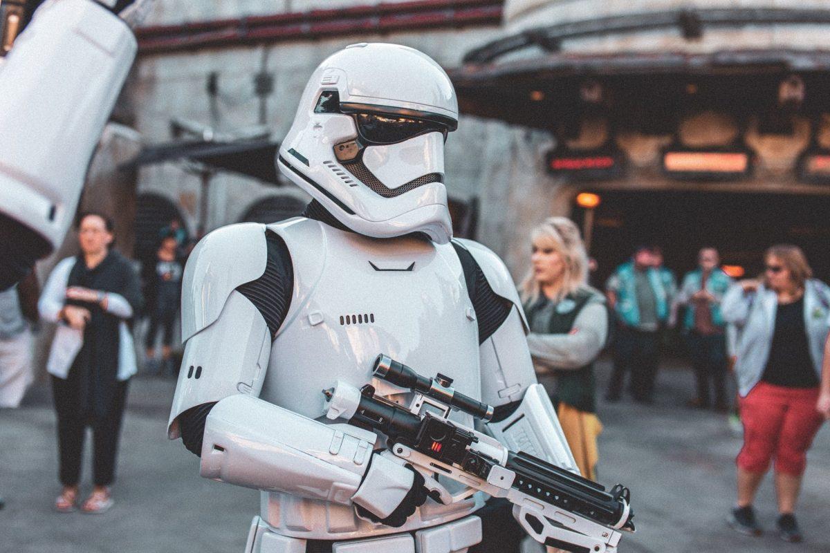 Storm Trooper walking around