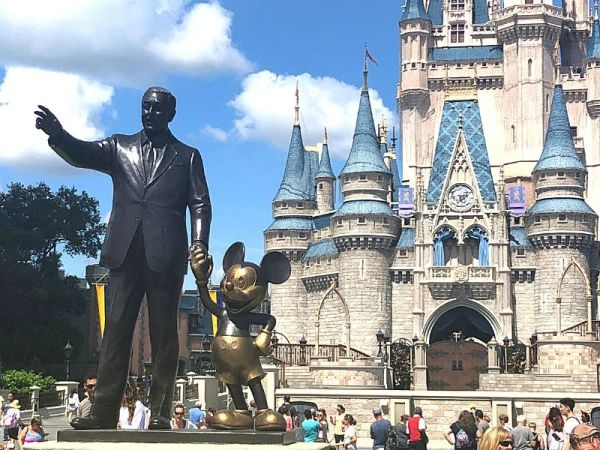 Cinderella Castle with Partner Statue