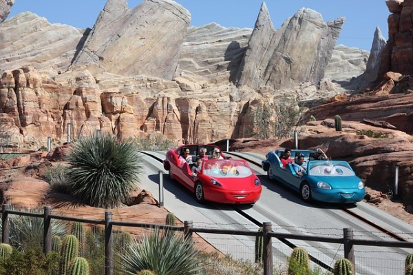 Radiator Springs Racers in Disney's California Adventure