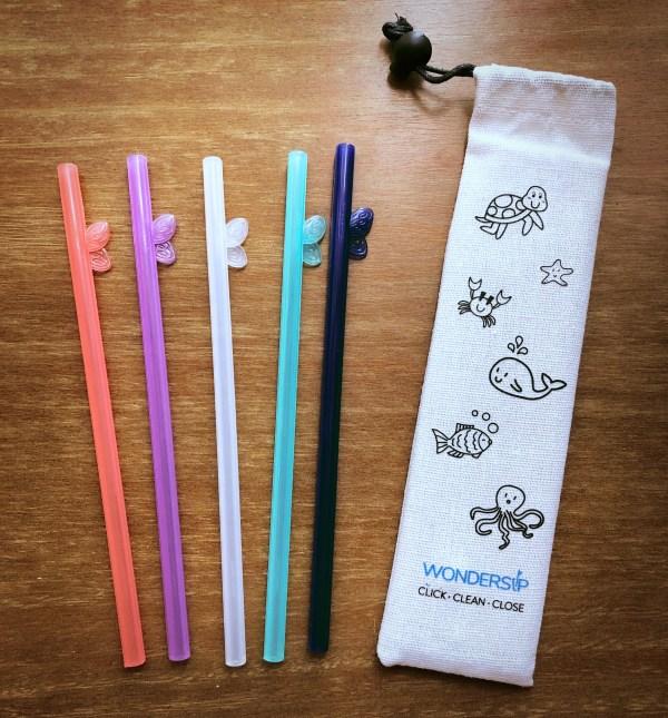 Wondersip one click open reusable straw