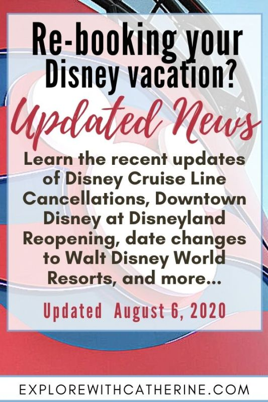 Want To Rebook Your Disney Vacation? What You Need To Know