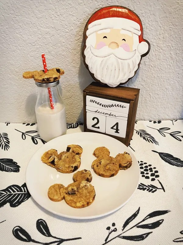 Leaving out milk and cookies for Santa...with a Disney twist