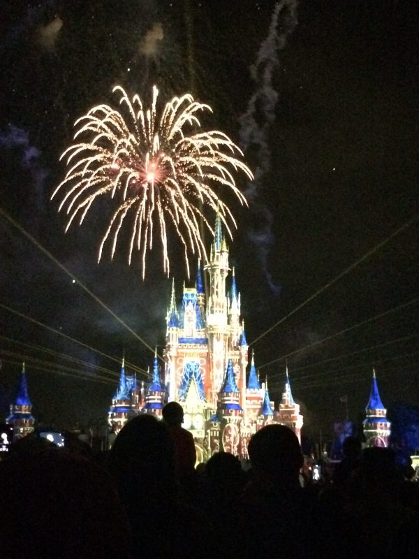 Fireworks above Cinderella Castle in Walt Disney World