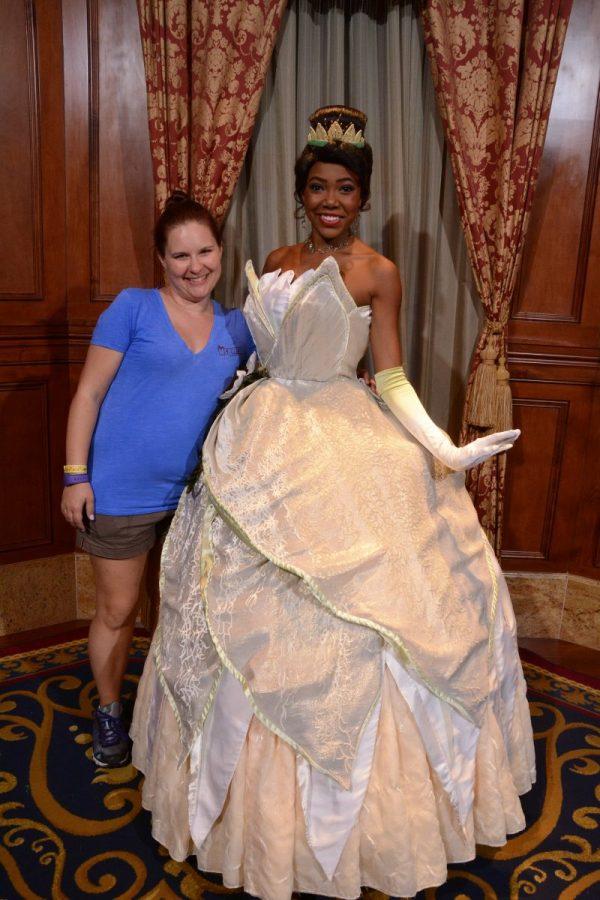 Meeting Tiana in the Princess Fairytale Hall