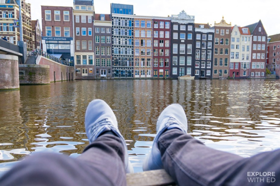 Relaxing by Amsterdam's canals on Damrak