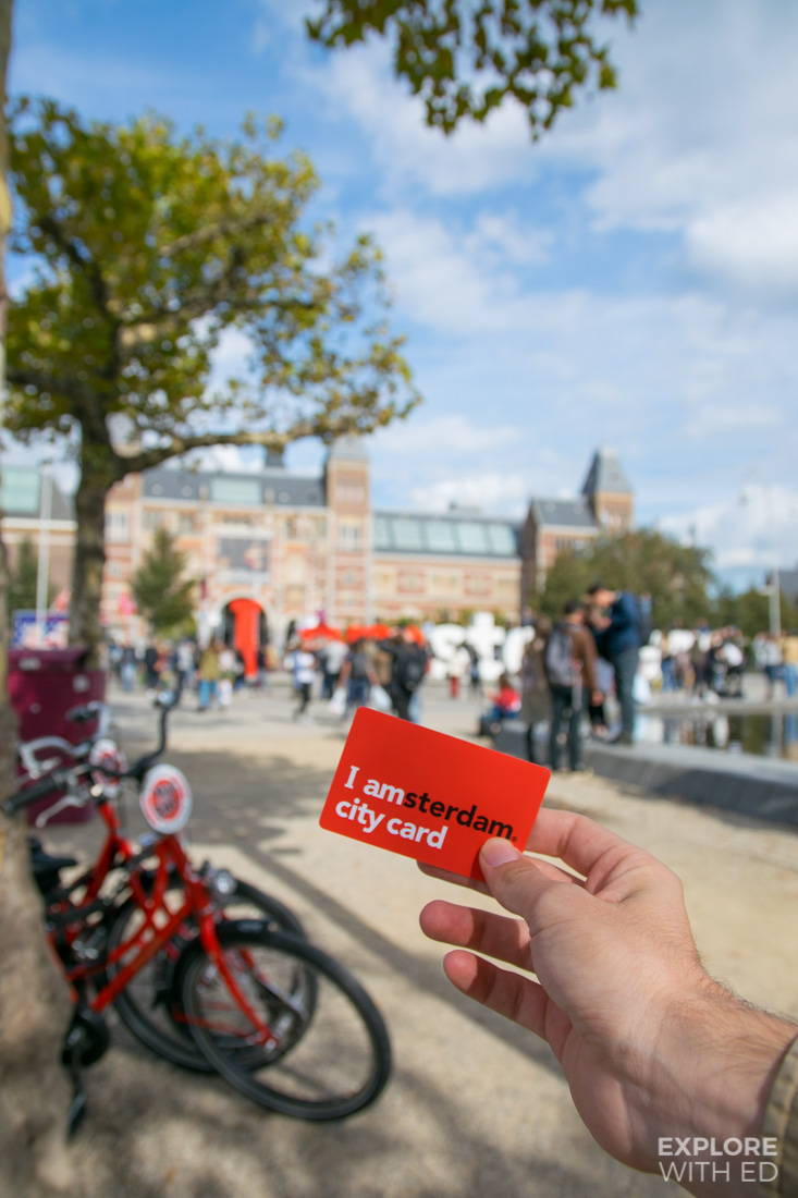 I AMSTERDAM city card benefits including access to museums and a free canal cruise